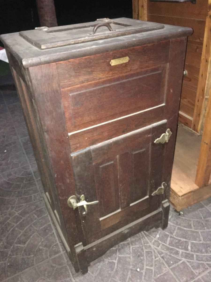Heladeras Antiguas Hielo Madera Muebles Antiguos En Mercado  # Muebles Hielo Sur