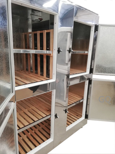heladera almacenera 44, 4 puertas , acero inoxidable