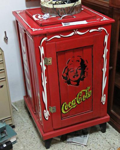 heladera antigua coca cola