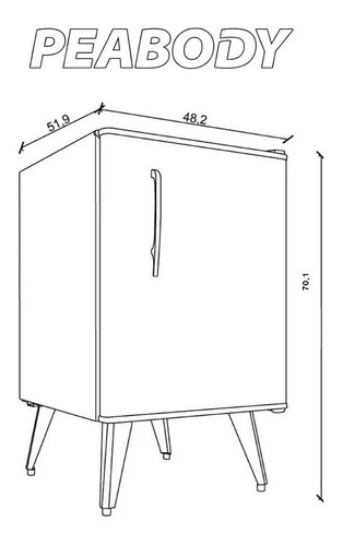 heladera bajo mesada peabody frigobar heladeras 50 l minibar