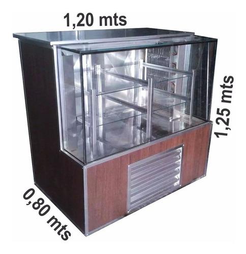 heladera comercial exhibidora tortera 1,20 mts vidrio recto