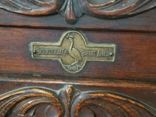 heladera de madera antigua marca hasenclever & cia excelente