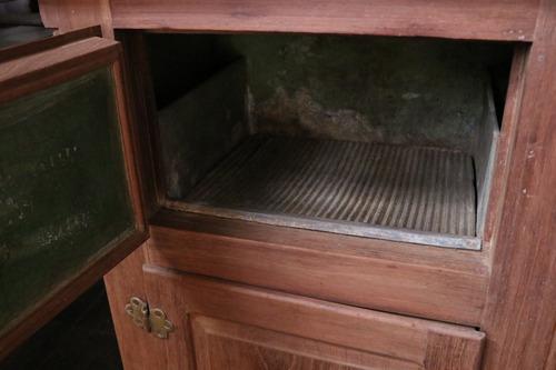 heladera de roble 2 puertas madera tel - la rueda _ l r