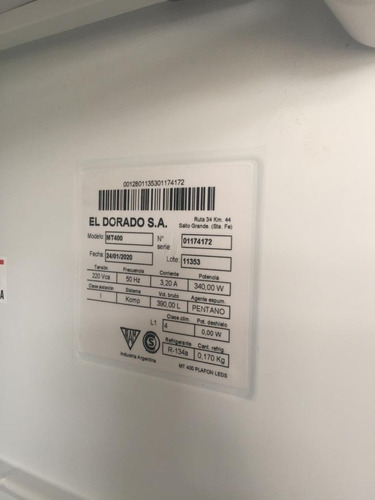 heladera exhibidora vertical 400 lts