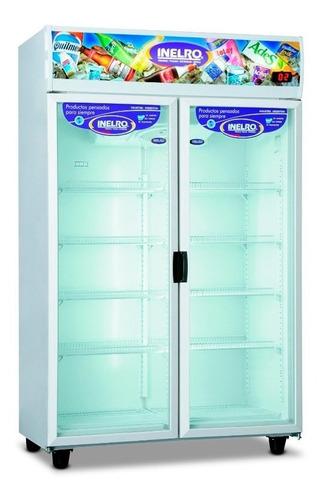 heladera exhibidora vertical inelro mt980 980 lts 2 puertas