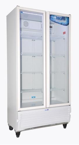 heladera exhibidora vertical teora tev-750 2 puertas 740 l.