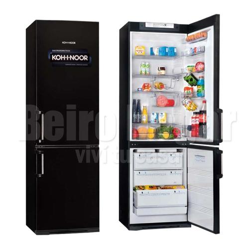 heladera kohinoor kgb4094 c freezer 2motor negra beiro hogar