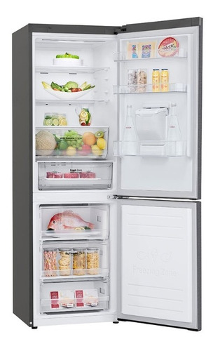 heladera lg pollux inverter con freezer abajo 336 lts albion