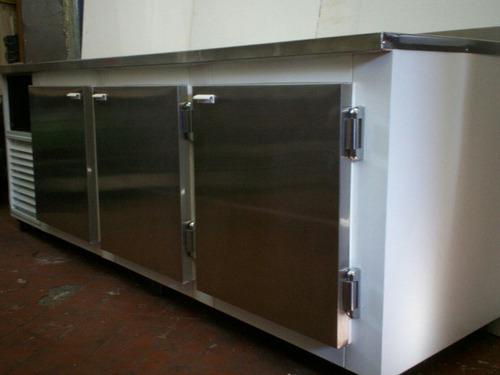 heladera mostrador 2.40 mts mesada acero inox