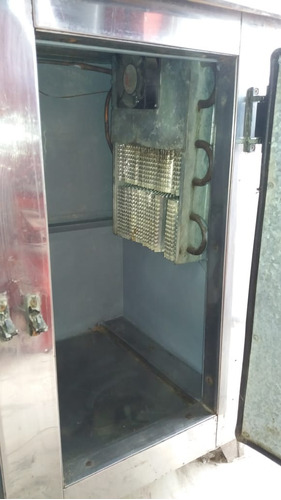 heladera mostrador acero inoxidable 1.5 mts
