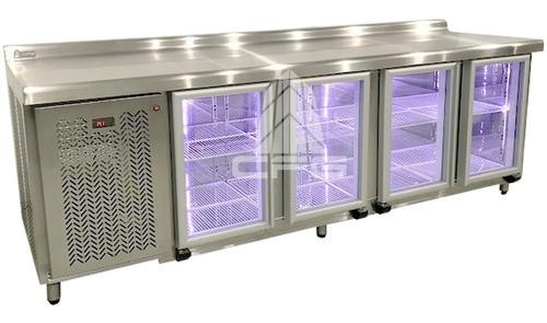heladera mostrador ciego bajo mesada 2.50 mts. chef vidriada