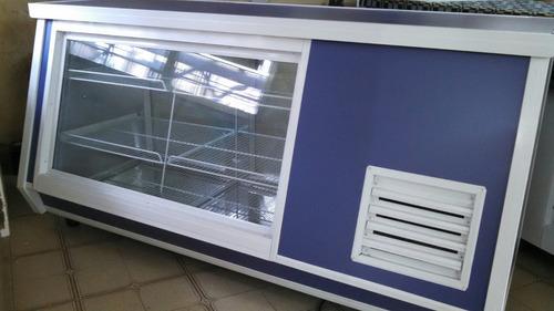 heladera mostrador panoramica 2.mts stock disponible!!!