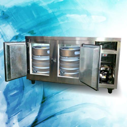 heladera mostrador para 4 o 5 barriles de cerveza nueva