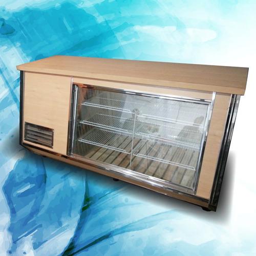 heladera mostrador vitrina exhibidora 2,40 m.