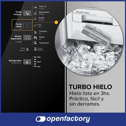 heladera no frost whirlpool a 462 lts acero inoxi wrm56k1