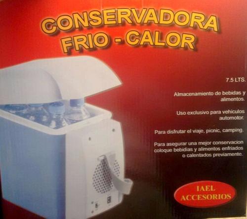 heladera portatil para auto 8 litros 12v frio calor