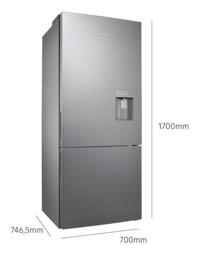 heladera samsung freezer inferior con multi flow de 400l