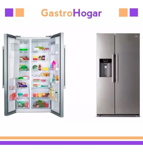 heladera side by side rca 2 puertas no frost clase a cuot