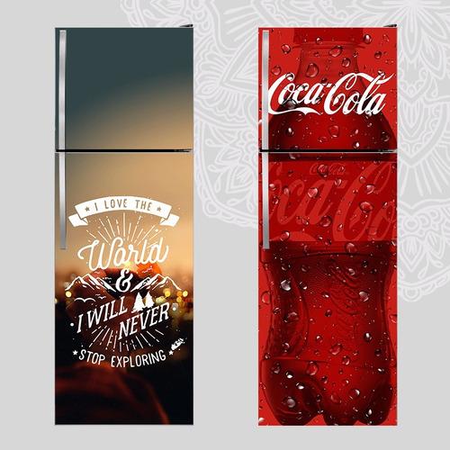 heladera-vinilo impreso  1,70x60 cm ploteo vinilo decorativo