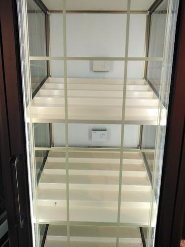 heladera vitrina exhibidora de vinos 3 caras