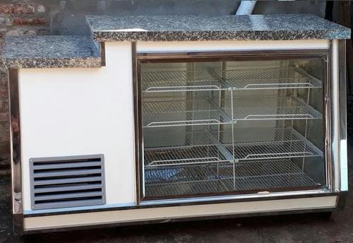 heladera vitrina mostrador 2 mts iluminacion led fabrica