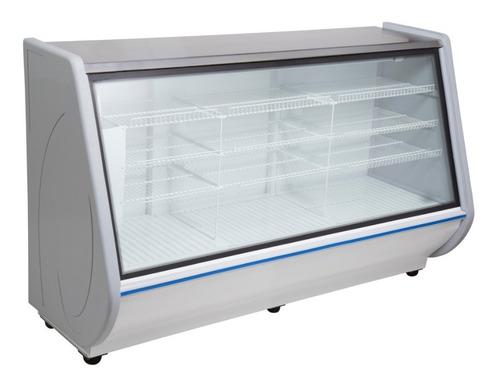 heladera vitrina mostrador exhibidora 2 mts lateral curvo