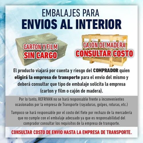 heladera vitrina mostrador silken vm-200 -  2,00 m. nuevas