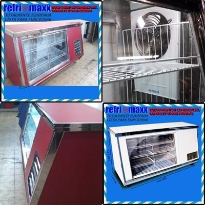 heladeras vitrina mostrador 2.0 mts nueva!!stock disponible!