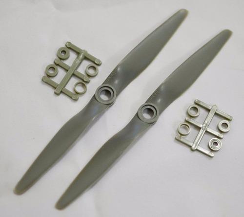 hélice gemfan 6x4(2 peças) estilo apc p/ asa zagi elétricos