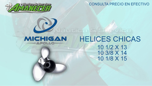 helices acero inoxidable paso 13/14/15 chicas