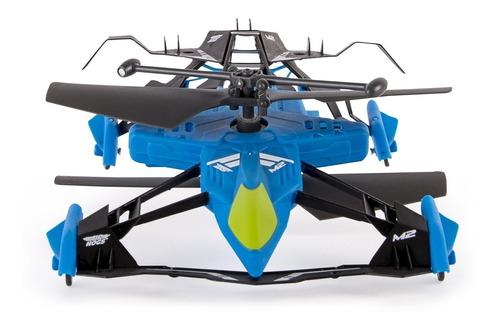 helicóptero a control remoto carrera en tierra y aire