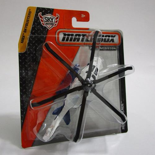 helicoptero a escala 12cm largo coleccion matchbox