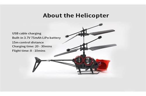 helicoptero controle remoto e luz led com giro 2 canais top
