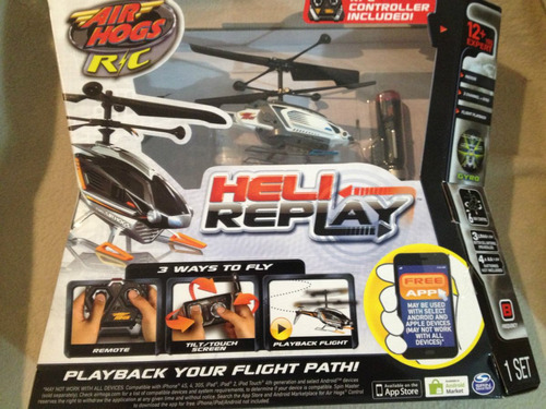 helicoptero controle remoto - heli replay air hogs r/c