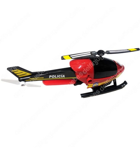 helicóptero de jueguete heli 6000 policia antex - educando-
