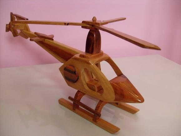 Artesanato Lata De Leite Em Pó ~ Helicóptero De Madeira Por Rs 30,00 Reais (artesanato) R