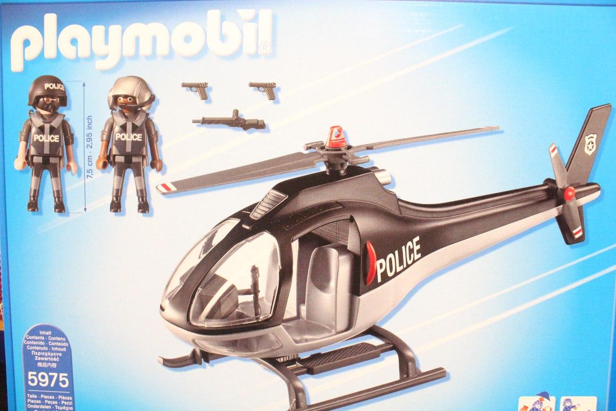 Helicoptero de policia de playmobil en mercado for Helicoptero playmobil