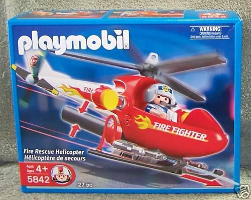 Helicoptero de rescate y piloto playmobil fire fighter for Helicoptero playmobil