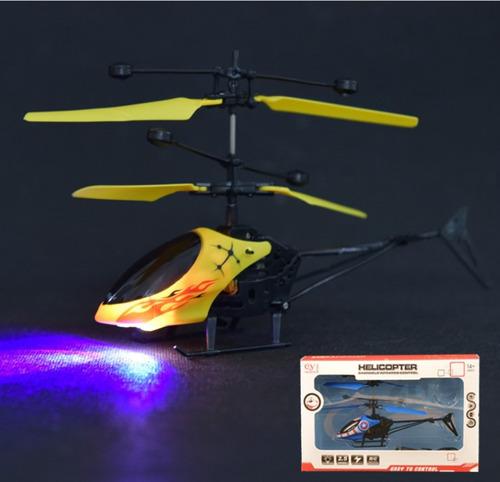 helicoptero dron luz led drone recargable inducción