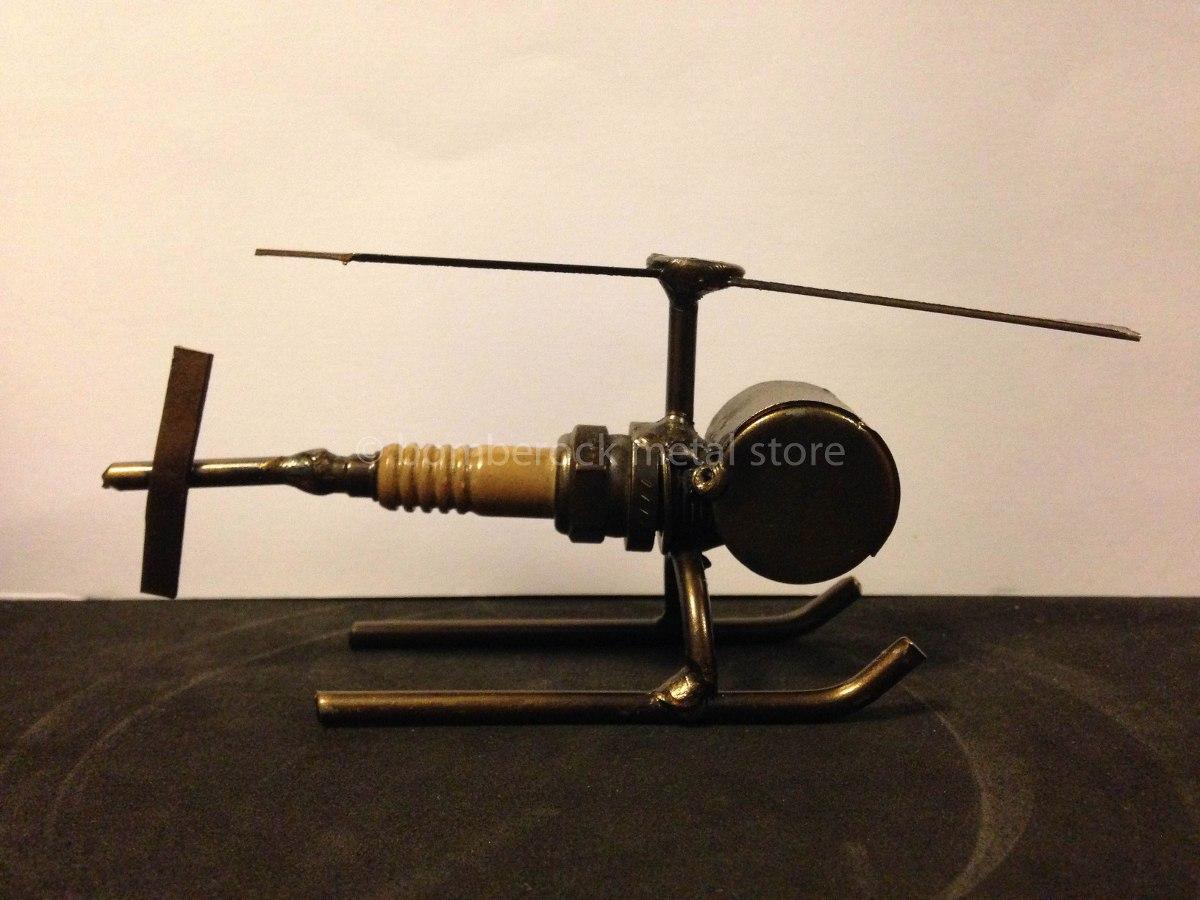 Helicoptero Hecho Buj 237 As Steampunk Figura Metal 99 00