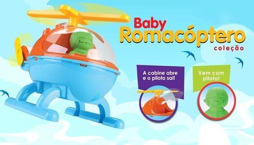 helicóptero infantil baby romacóptero - roma brinquedos