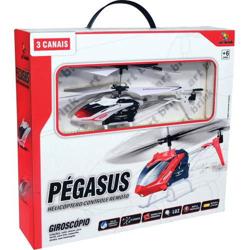 helicoptero pegasus 3 canais 23cm art brink