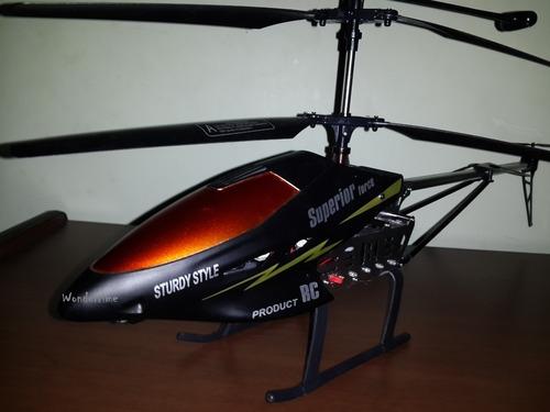 helicoptero radio control 60cm.super resistente! quilmes