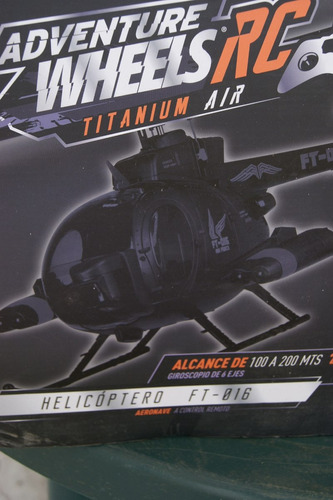 helicoptero radio control  adventure wheels rc