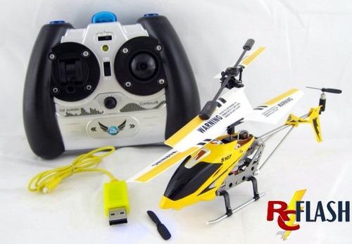helicóptero rc 3 canales metalico niños syma s107g 1ra marca