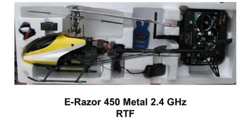 helicóptero rc e-razor 450 en buenas condiciones