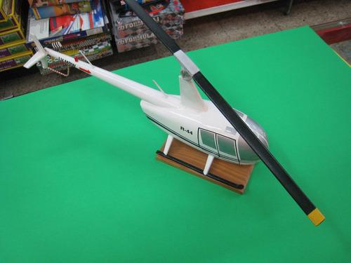 helicoptero robinson  en madera maciza hecho a mano