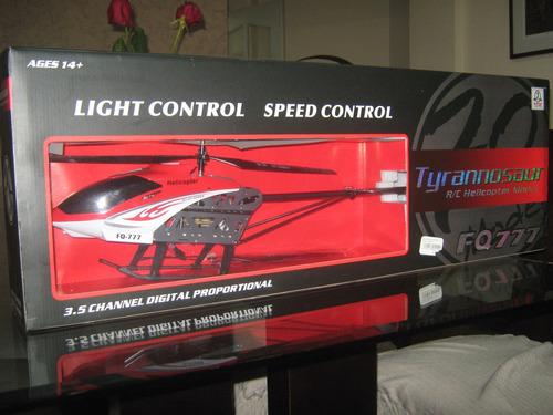 helicoptero tyrannosaur r/c modelo fq777 3.5 channel