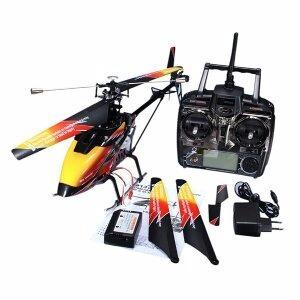 helicoptero v912 - 2.4ghz- 04 canais - wltoys- vermelho