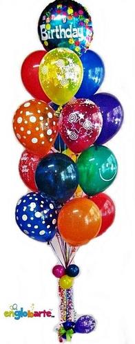 helio globos baby shower bodas matrimonio 15 años